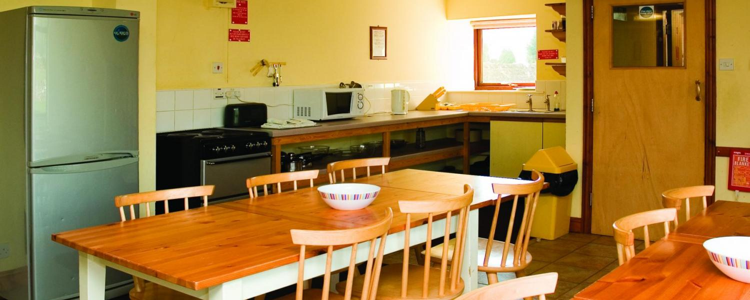 YHA Alstonefield kitchen