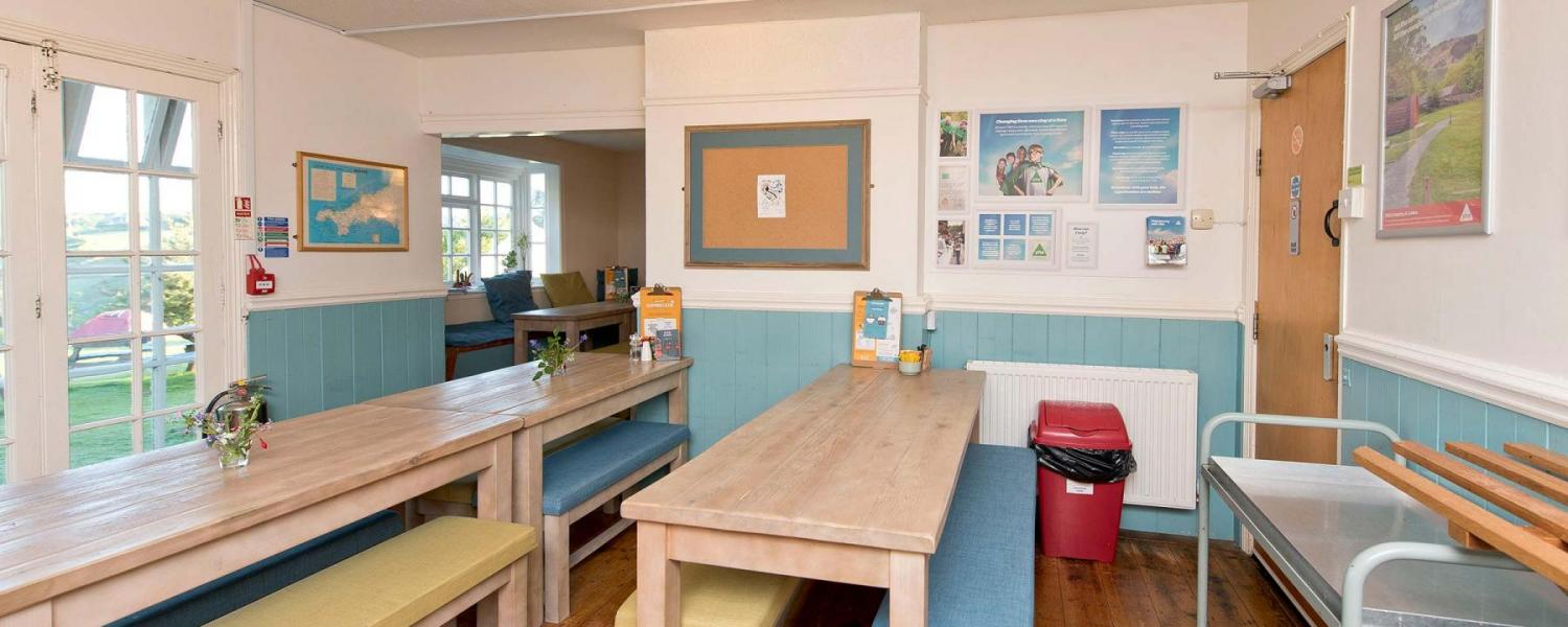 YHA Land's End dining room