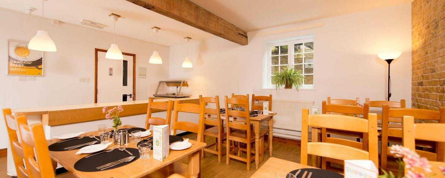 YHA Medway dining room