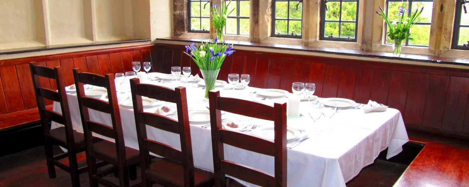 YHA Wilderhope Manor dining room