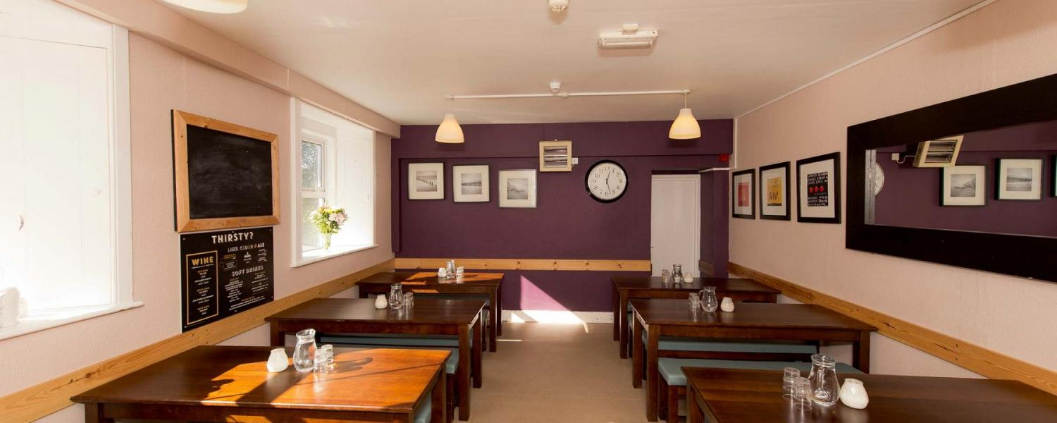 YHA Wye Valley dining room