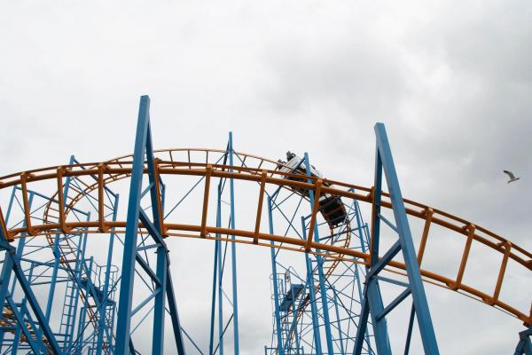 Roller coaster at Brean Leisure Park