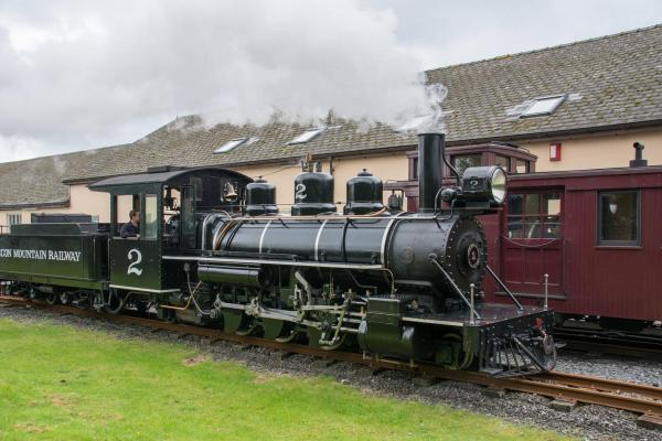 Brecon Mountain Railway steam train No. 2