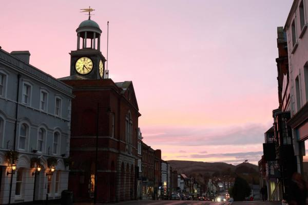 Bridport Town Hall, near the Museum
