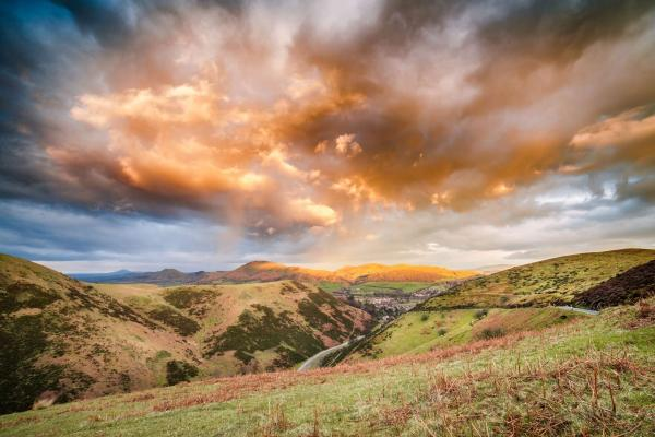 View up the Carding Mill Valley