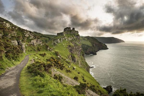 Exmoor, coastal path through Valley Of The Rocks