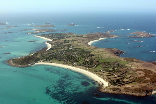 The Isles of Scilly, from the air