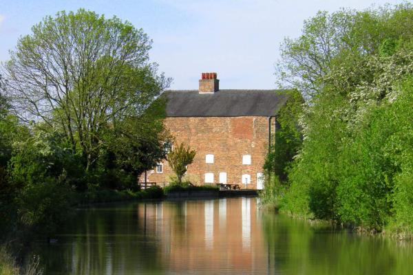 View of Moira Furnace from down the Moira Canal