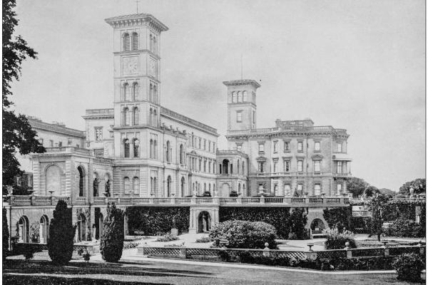 Osborne House, ancient black and white photograph