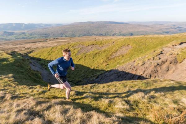 Running uphill in the Yorkshire Dales