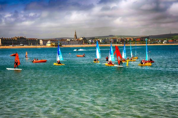 Watersports near Portland, sailing at Weymouth
