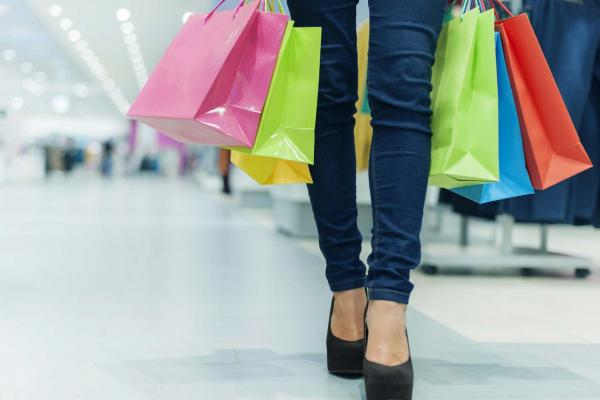 Image of a woman with shopping bags