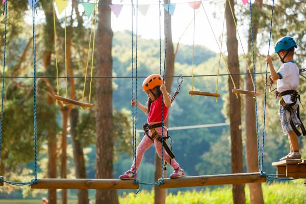 Child on hi-ropes at Conkers