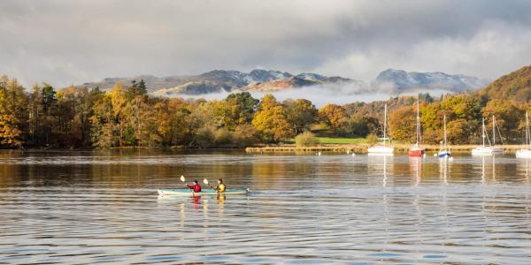 Canoeing & sailing on Windermere