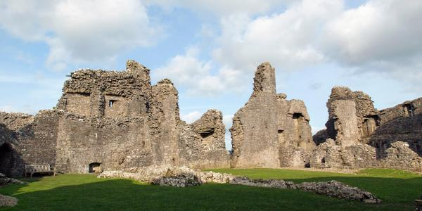 Castle ruins, but not Okehampton Castle