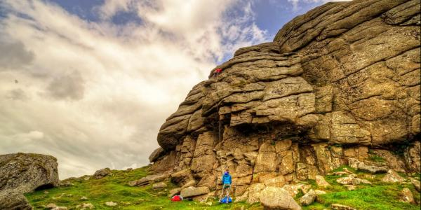 Climbers on Haytor, Dartmoor