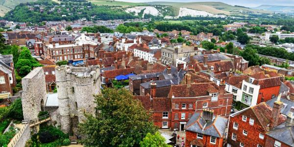 View of Lewes from Lewes Castle