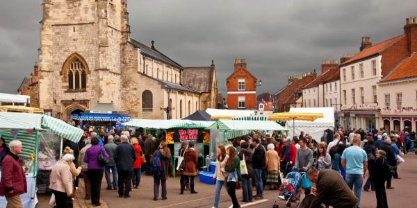 Malton market day, near Eden Camp