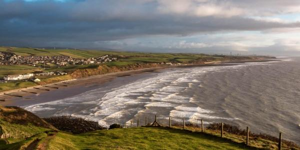 St Bees beach from St Bees Head