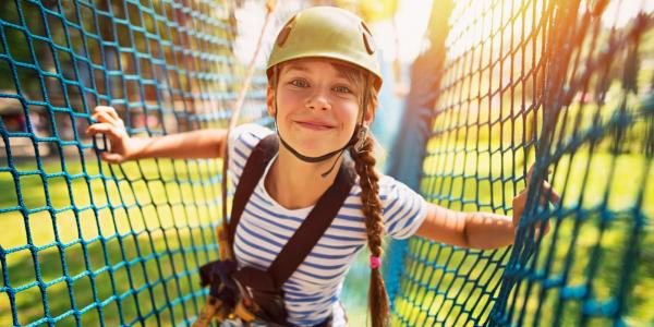 Teenager on Ropes Course