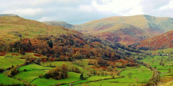 Walking and Rambling in Windermere, view of Troutbeck Valley