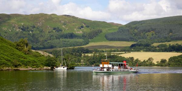 Ullswater Steamer and sailboat
