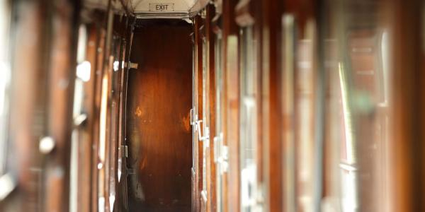 Vintage corridor train carriage