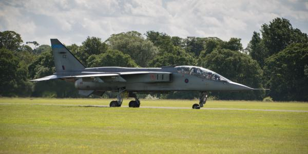 RAF Cosford, jet preparing for take off