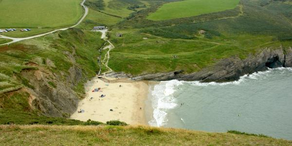 Mwnt Beach in Poppit Sands